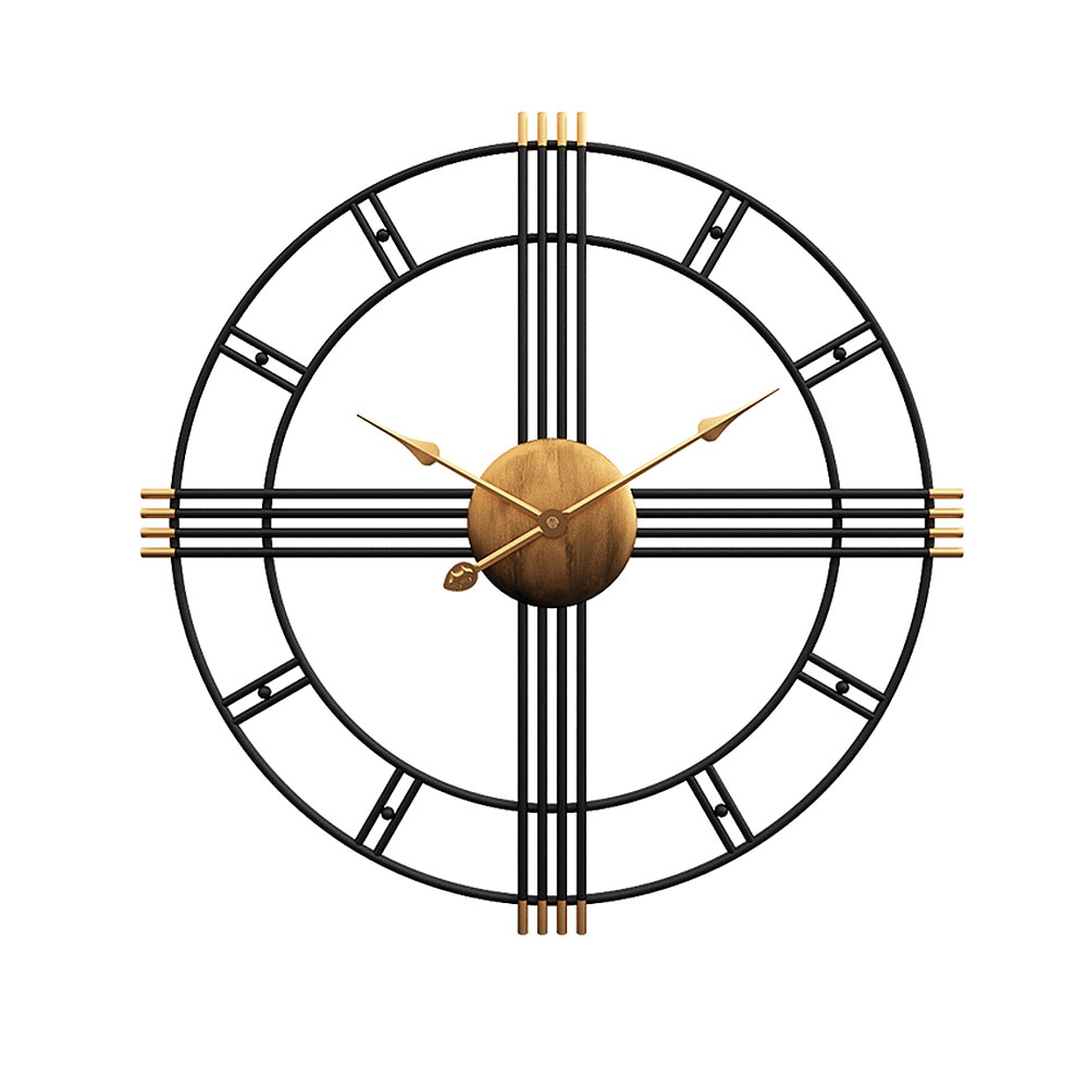 Horloge murale rétro en fer 50 cm