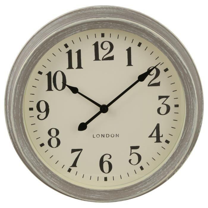 Horloge Murale grise 35 cm