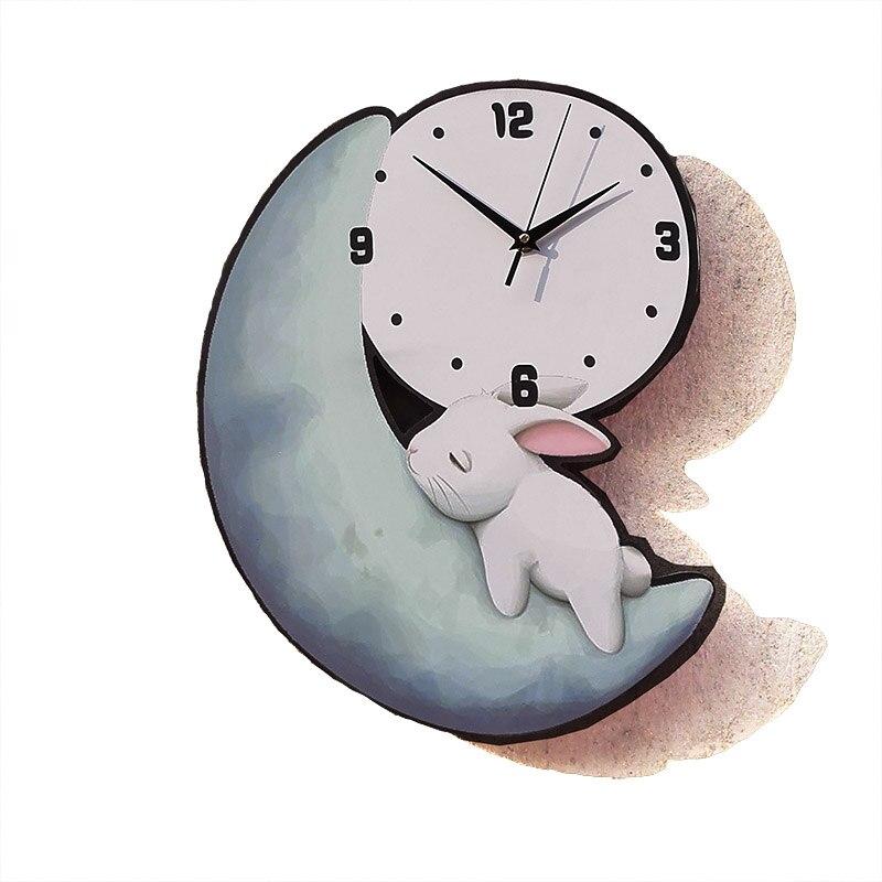 Horloge murale créative pour chambre d\'enfant 33x47 cm