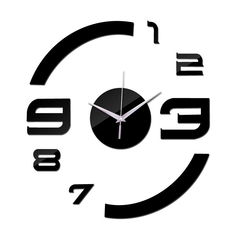 Horloge murale en acrylique, moderne miroir
