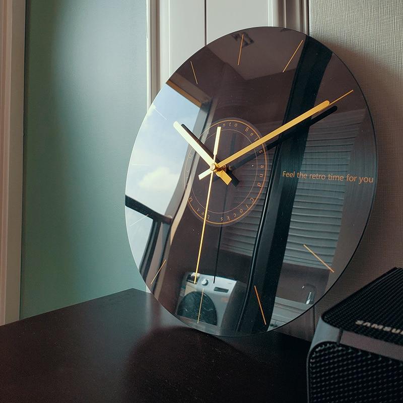 Horloge murale créatif moderne fond miroir