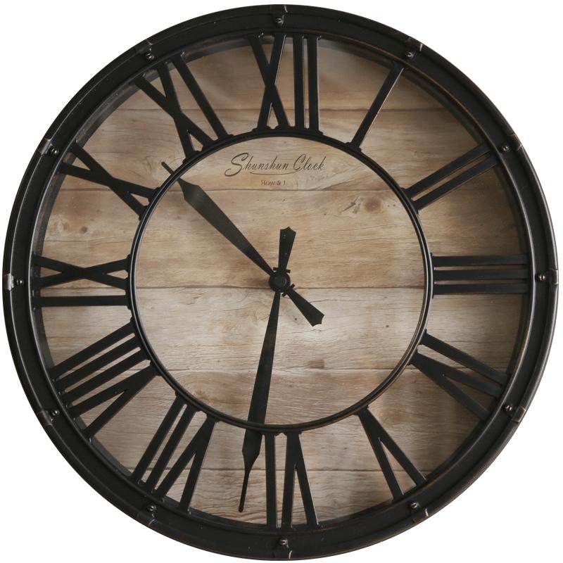 Horloge murale style industriel et rétro 3D 38 cm