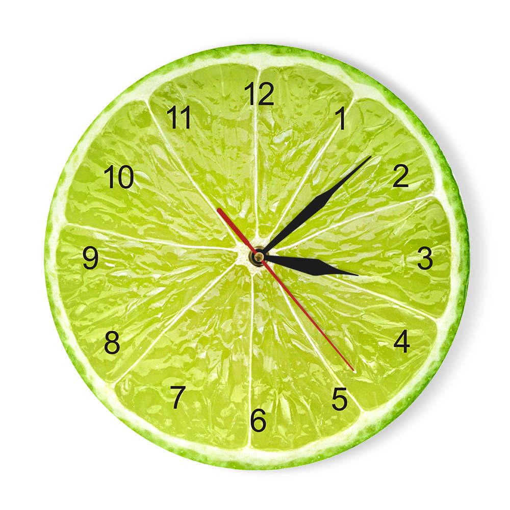 Horloge murale Citron/Orange en acrylique 30 cm