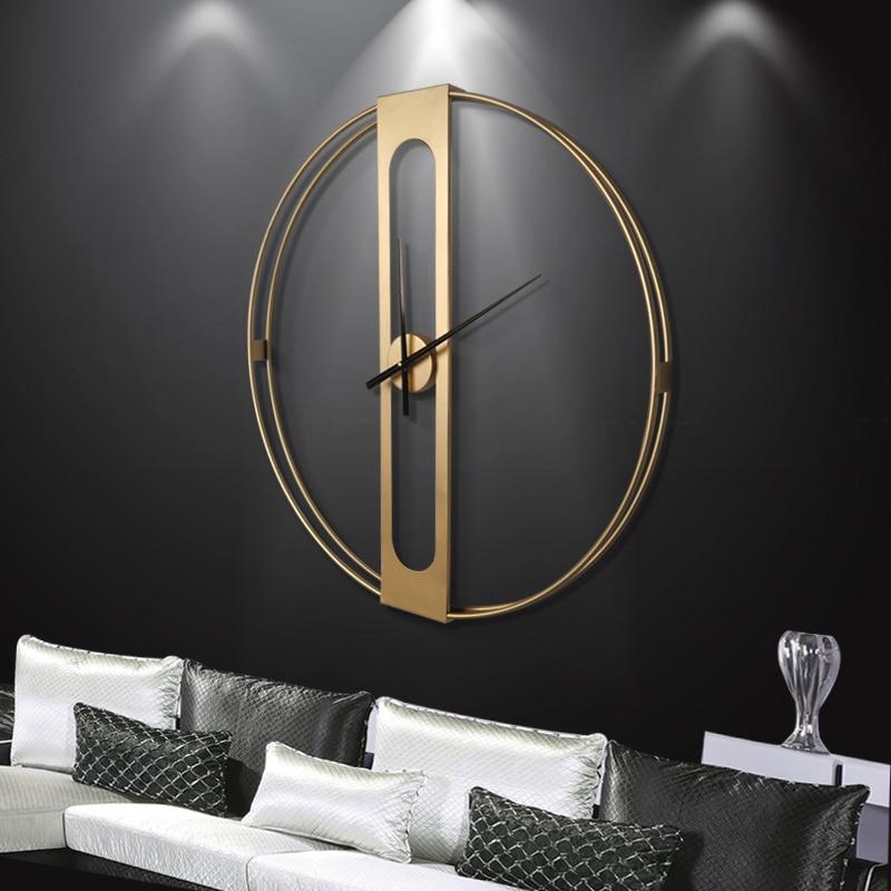 horloge murale muette design