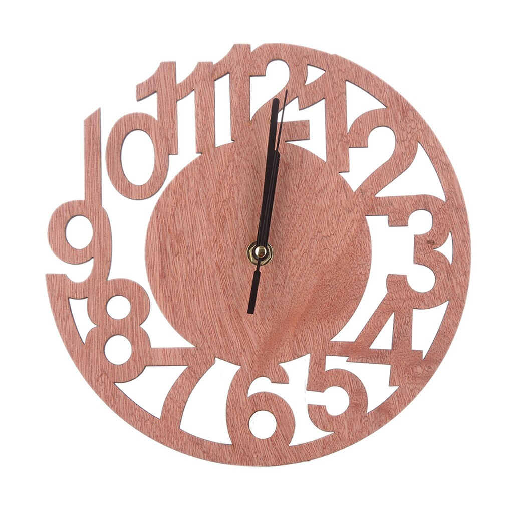 Horloge en bois massif 23 cm