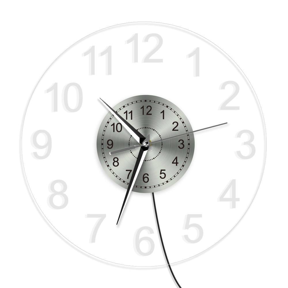 Horloge disque vinyle lumineuse 30 cm