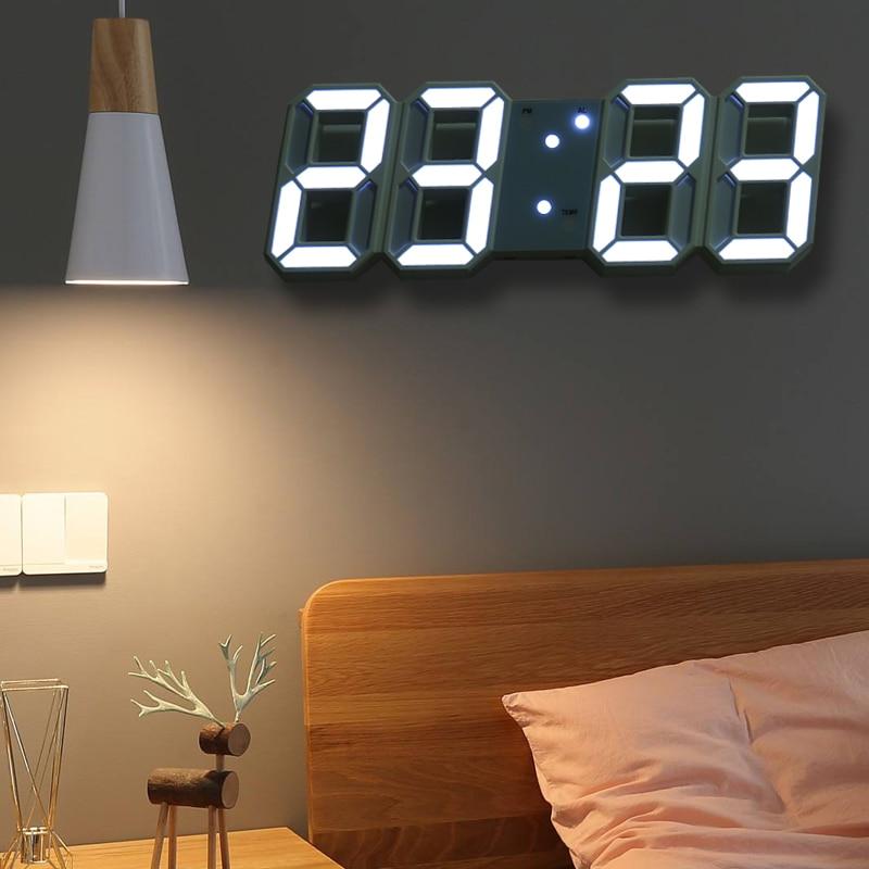 Horloge de table LED numérique 23x9cm