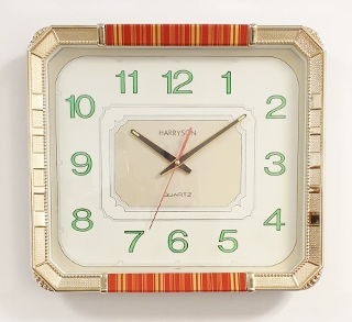 Horloge Kitch années 60 36x32 cm