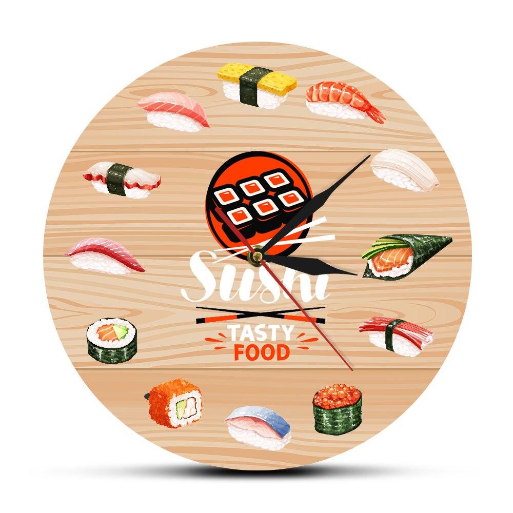 Horloge murale cuisine japonaise 30 cm