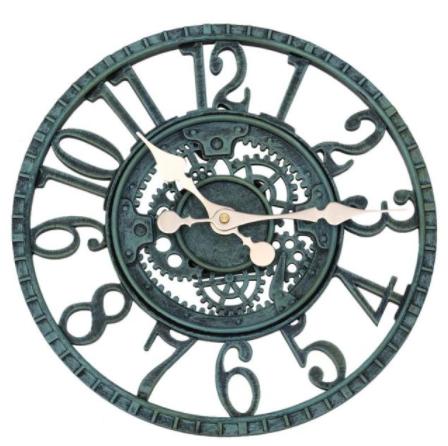 Horloge murale résine et vintage 30 cm