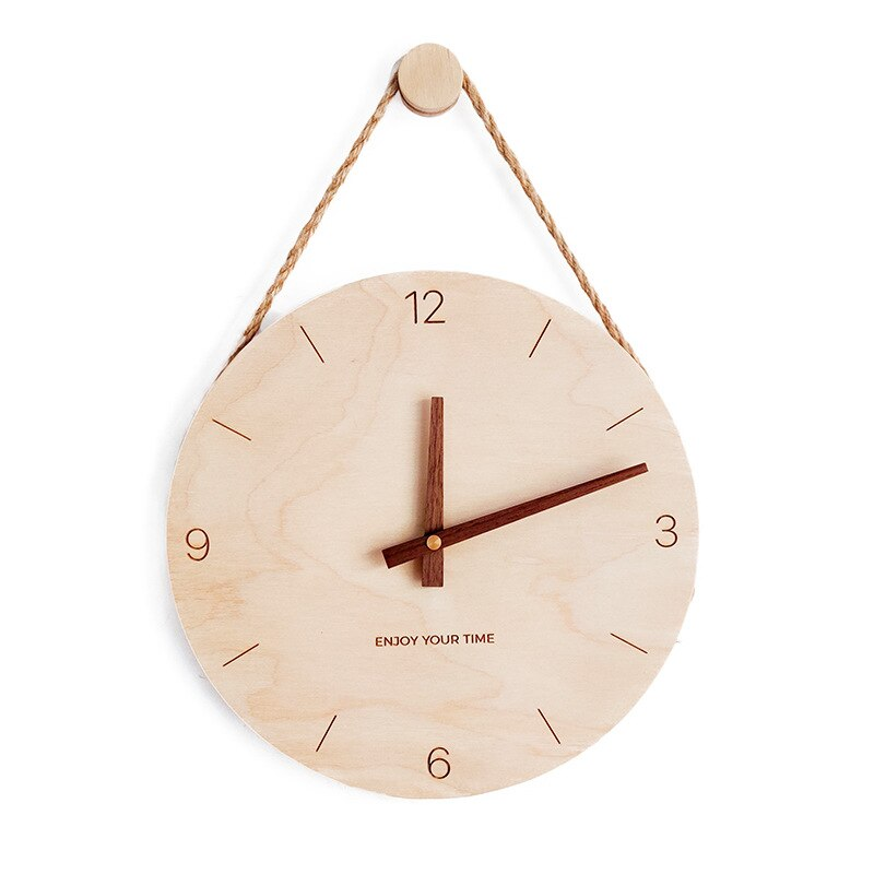 Horloge moderne et suspendue en bois 30 cm