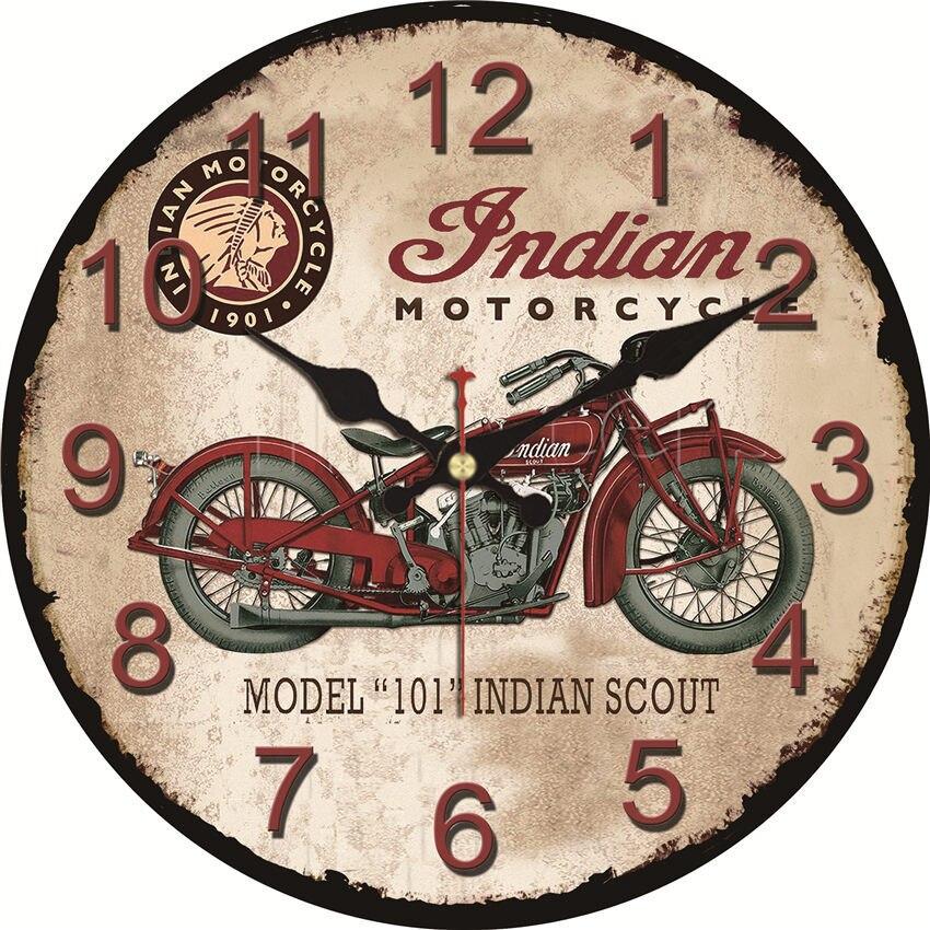 Horloge murale Indian Motorcycle 15 à 34 cm