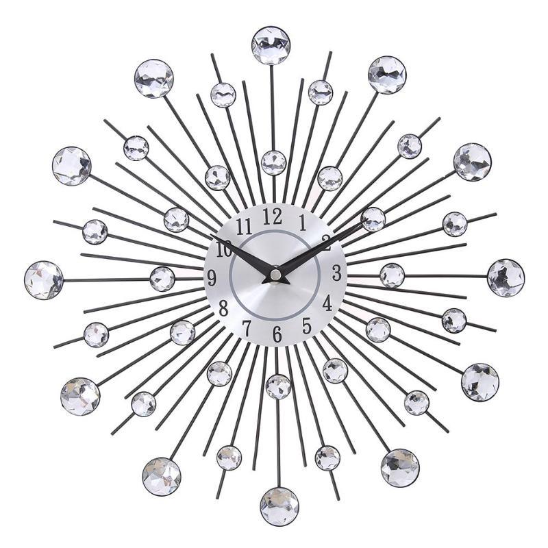 Horloge murale de luxe pour décoration chambre 33cm