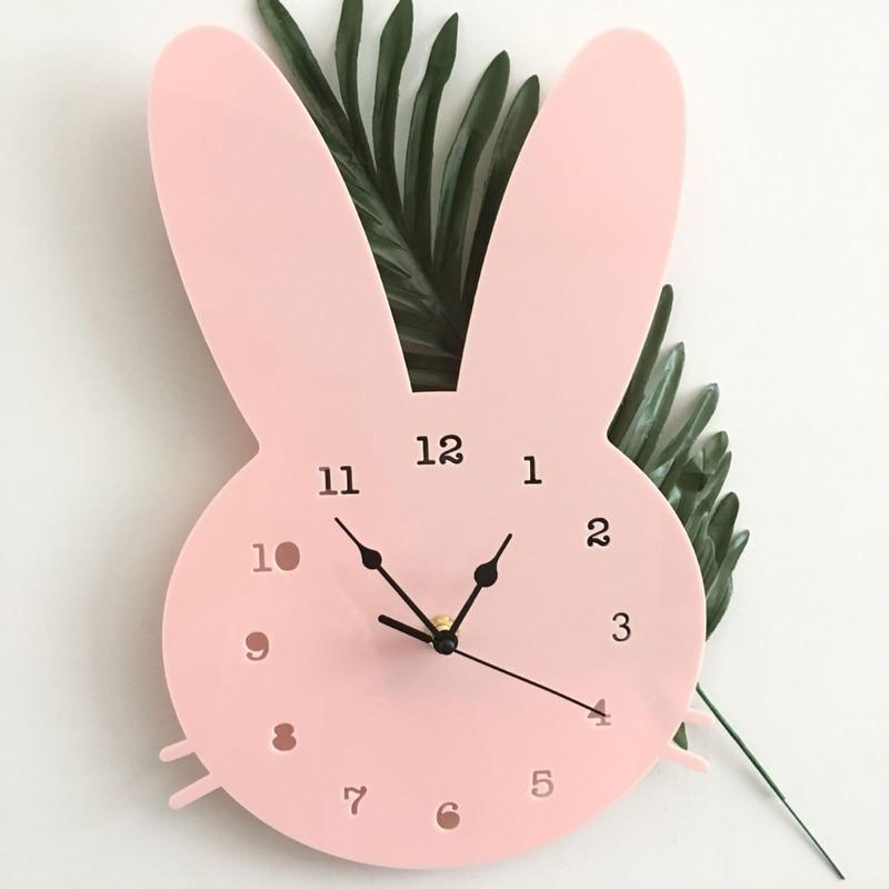 Petite horloge lapin pour chambre d\'enfant 12 cm