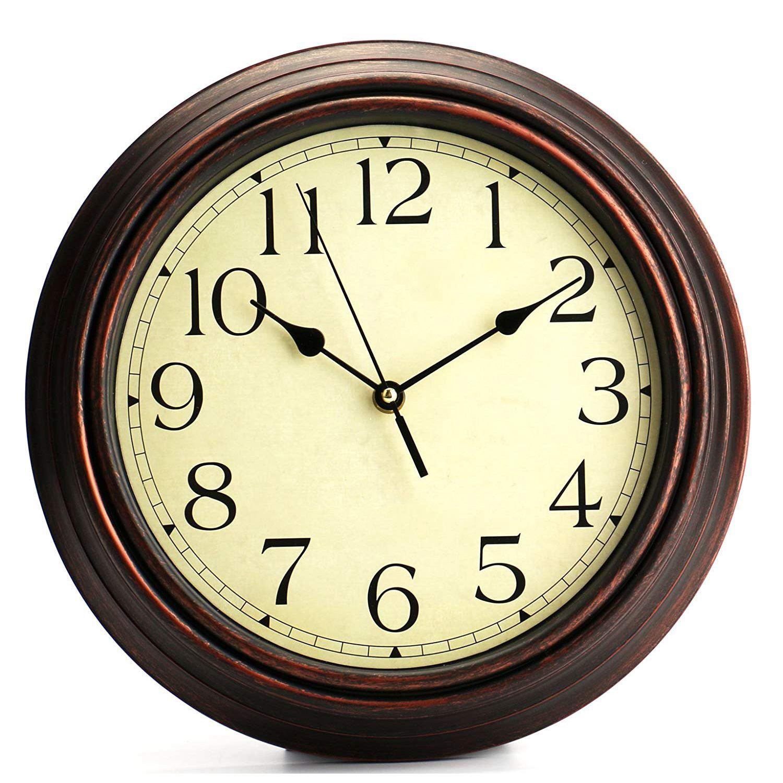 Horloge rétro ronde pour murs 30cm