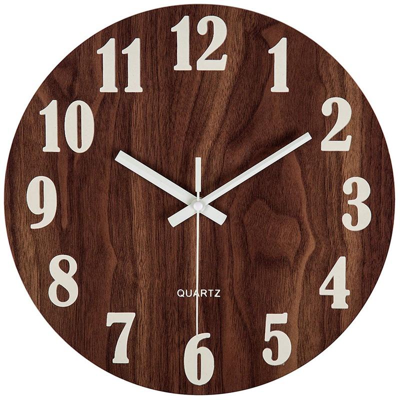 Horloge murale rustique Style toscan silencieux 30cm