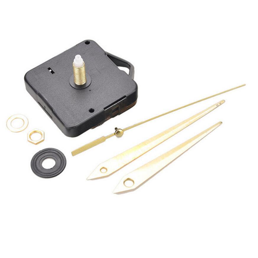Mécanisme d\'horloge avec aiguilles dorées à monter 22 cm