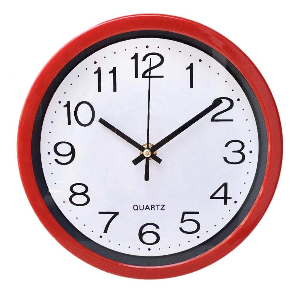 Horloge murale décoration en plastique pour maison 20 cm
