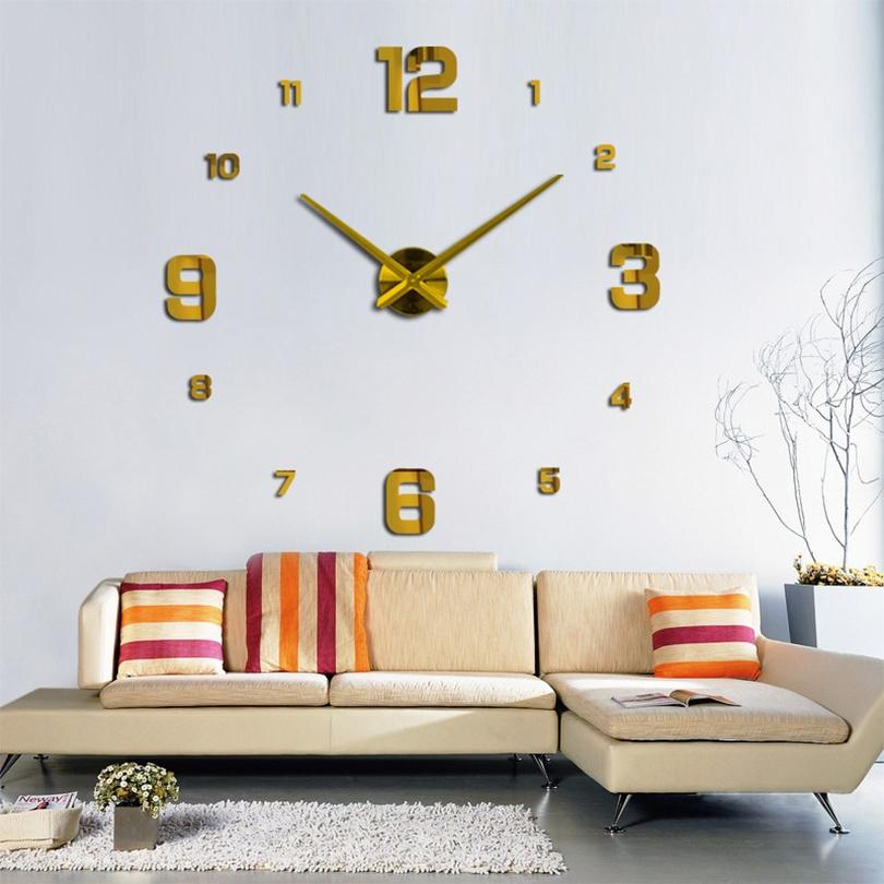 Horloge géante 3D avec effet miroir