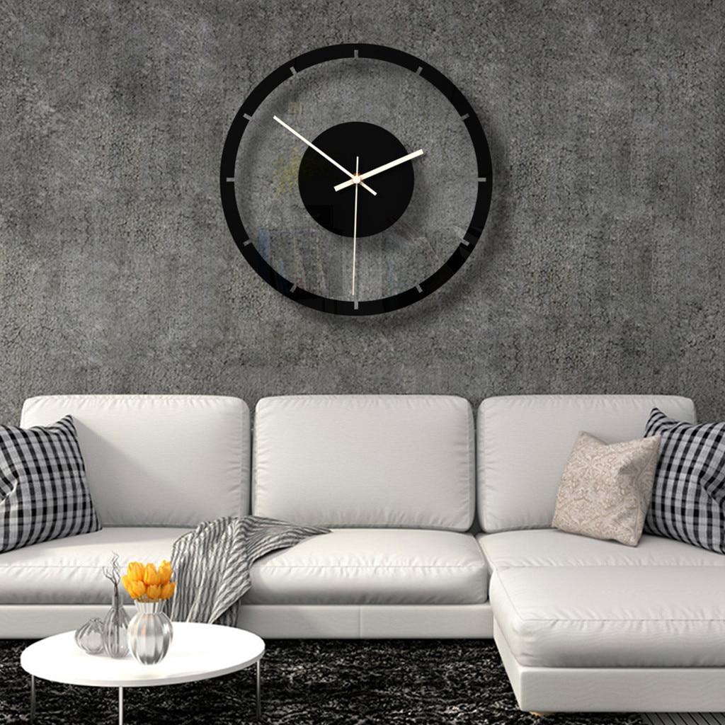 Horloge murale silencieuse transparente style nordique 28cm