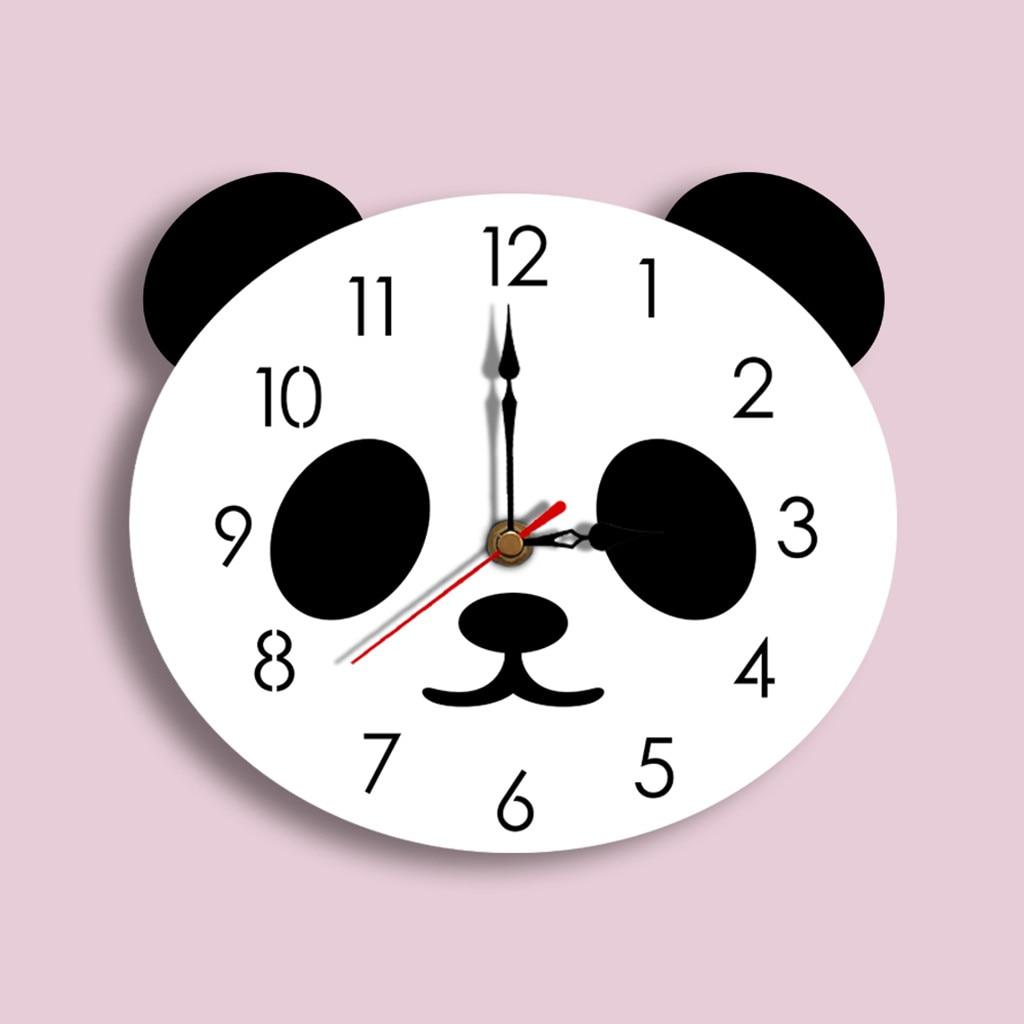 Horloge murale panda pour enfants 29x26cm