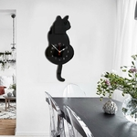 Cartoon-Acrylic-Clocks-Home-Decoration-Living-Room-Wagtail-Cat-Wall-Clock-Children-s-Room-Creative-Wall