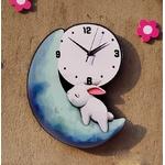 Horloge-murale-cr-ative-pour-chambre-coucher-Horloge-en-couleurs-dessin-anim-mignon-lune-lapin-horloge