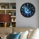 Airinou-horloge-murale-en-verre-et-m-tal-3-Styles-la-lune-ciel-toil-et-Mars