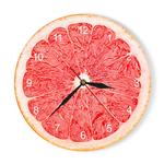 Montre-murale-Pomelo-citron-Orange-Fruits-Horloge-murale-acrylique-Lime-horloge-de-cuisine-moderne-d-cor