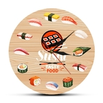 Cuisine-japonaise-Sushi-nourriture-savoureuse-horloge-murale-Cuisine-Art-mural-d-coratif-minimaliste-montre-murale-cadeau