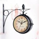 Horloge-murale-r-tro-classique-chaude-22CM-Double-face-support-ext-rieur-horloge-d-coration-de