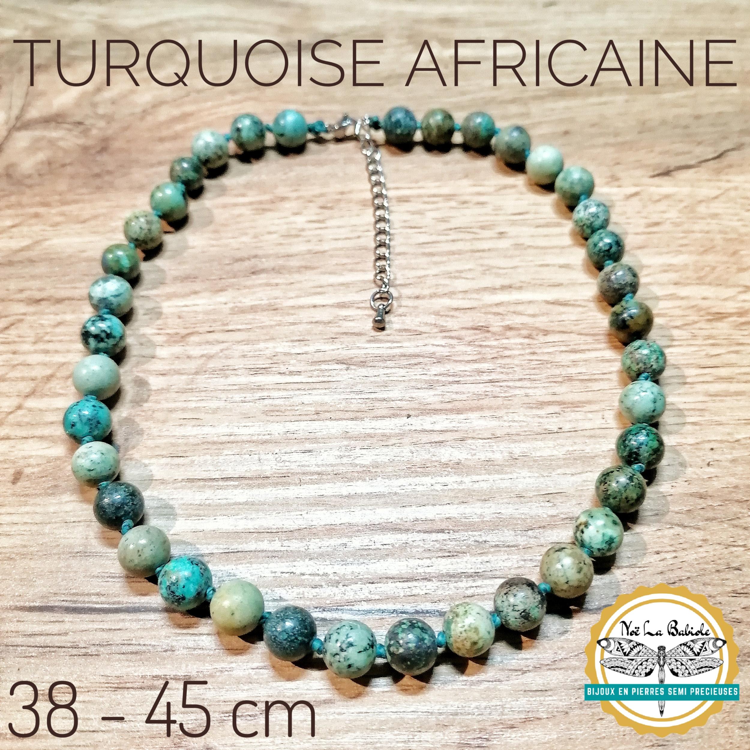 Ras de cou Paix & Vitalité en Turquoise africaine