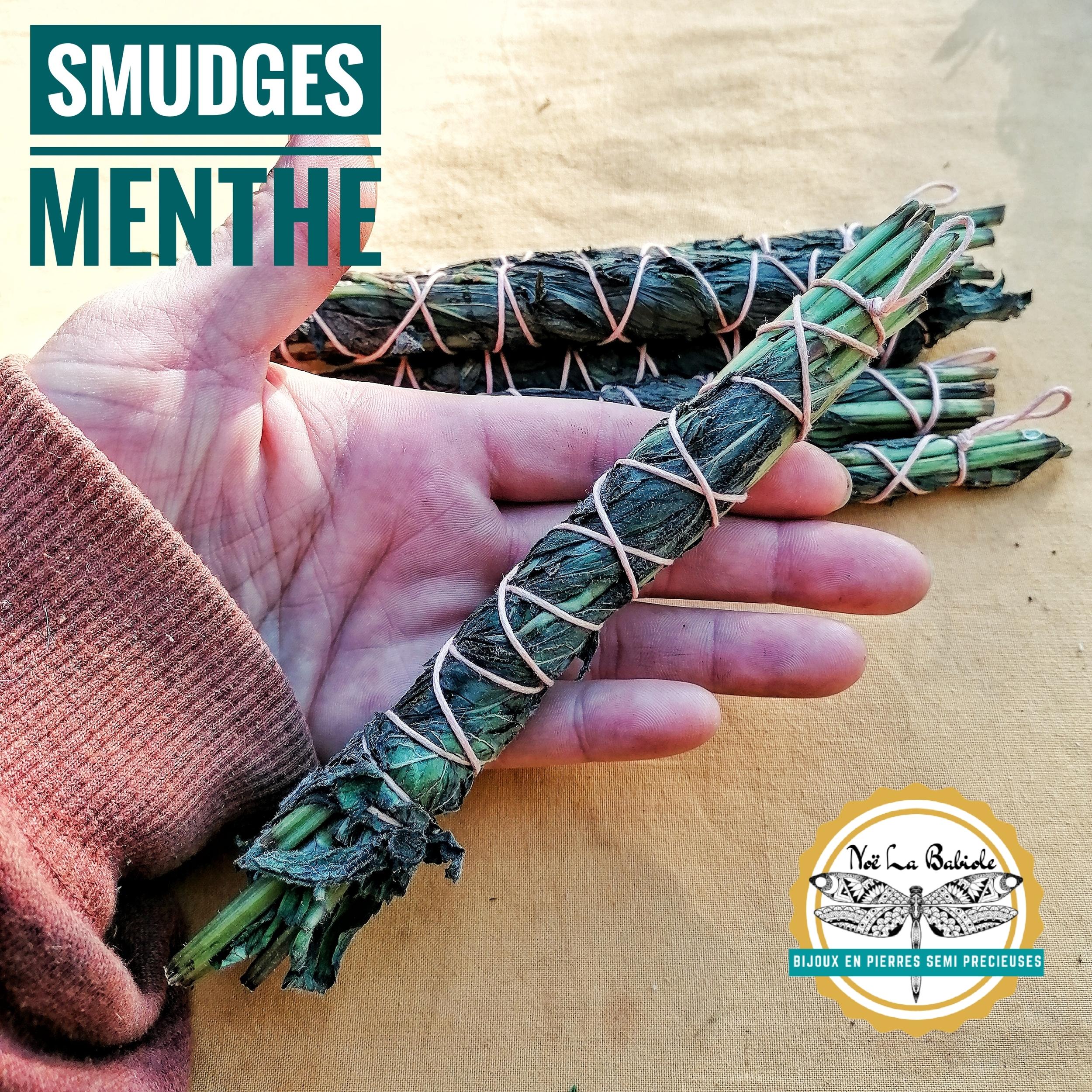 Maxi Smudge Menthe - Guérison Purification & Positivité