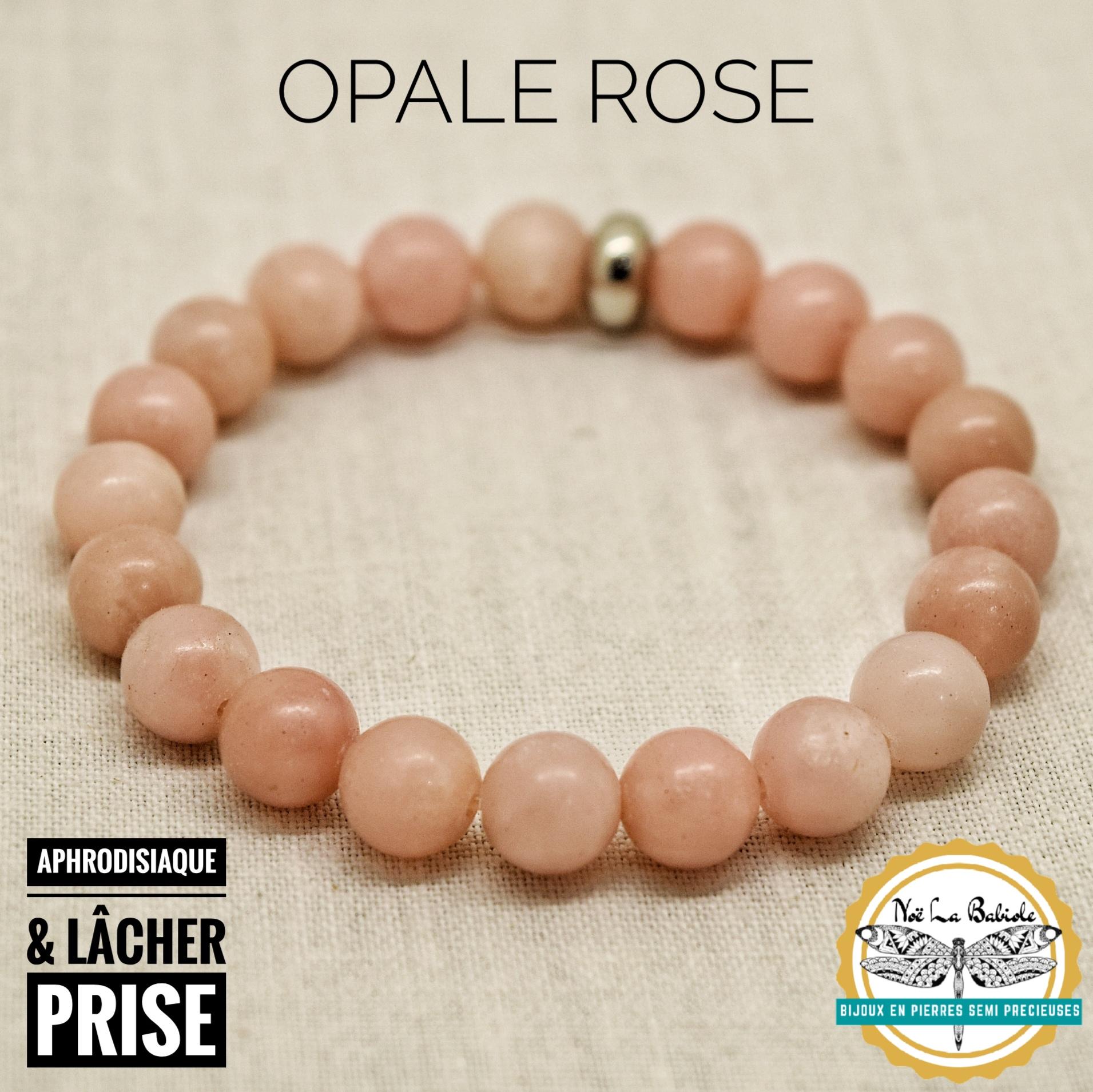 Bracelet Aphrodisiaque & Lâcher prise en Opale rose