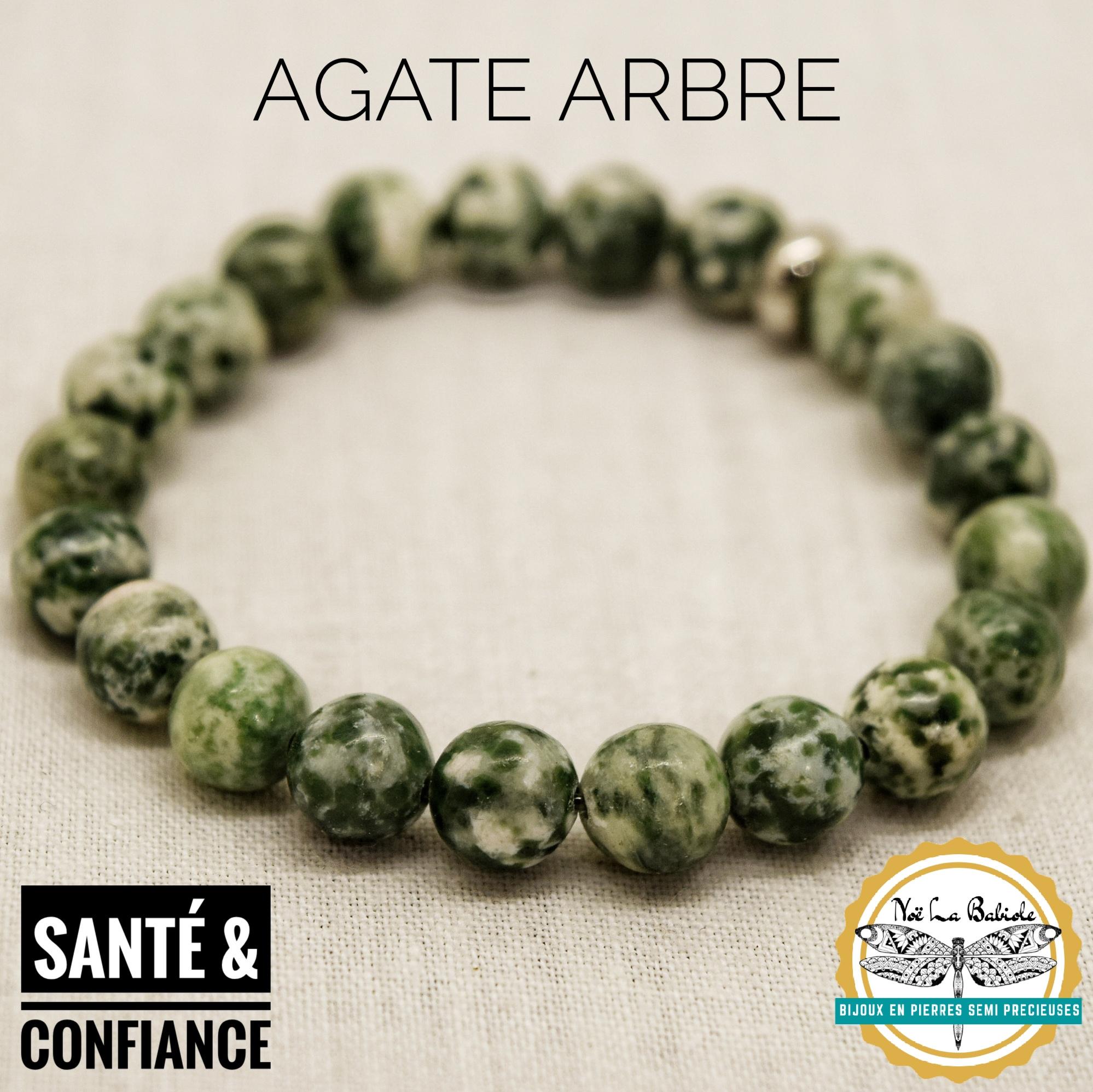 Bracelet Confiance & Santé en Agate arbre