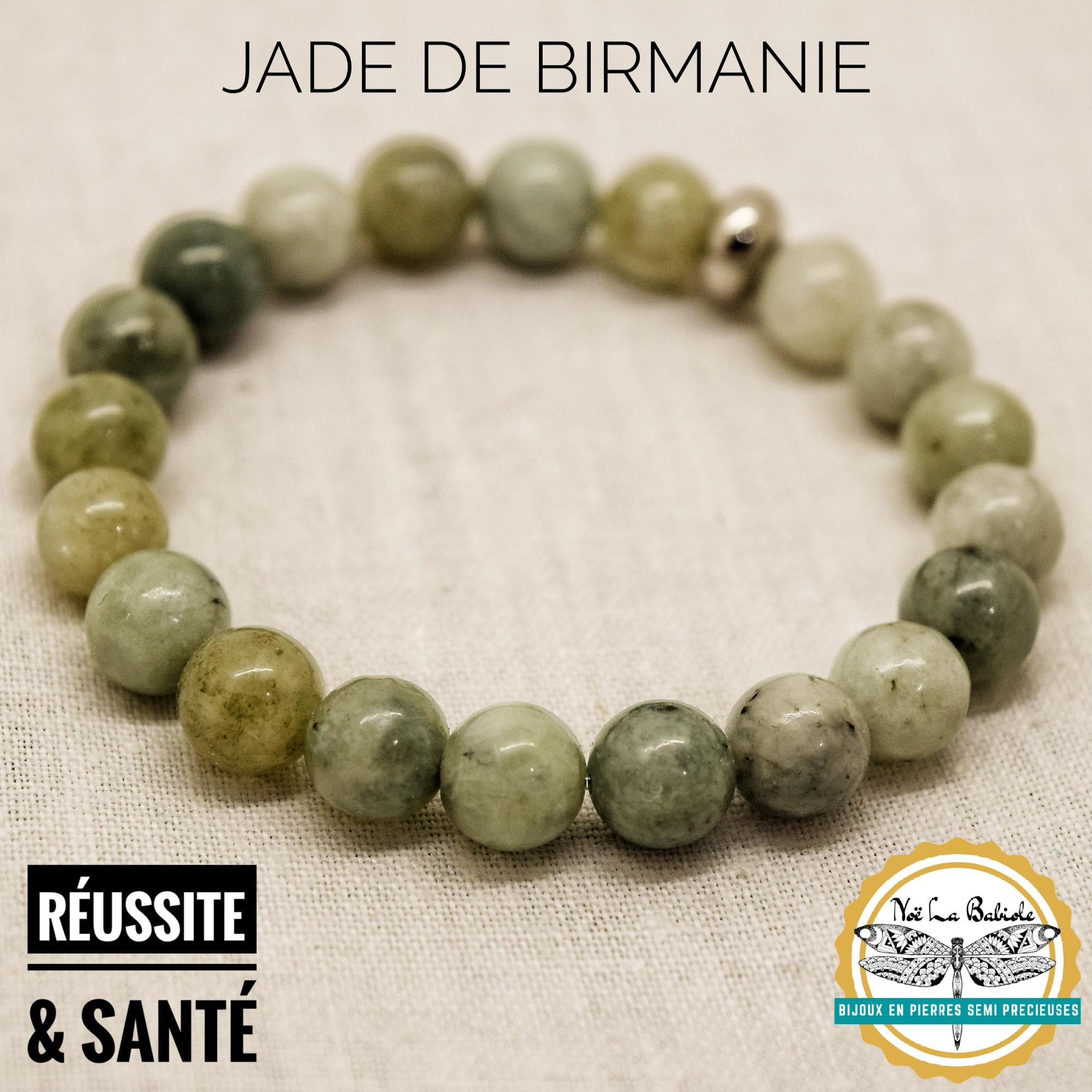 Bracelet Santé & Reussite en Jade de Birmanie