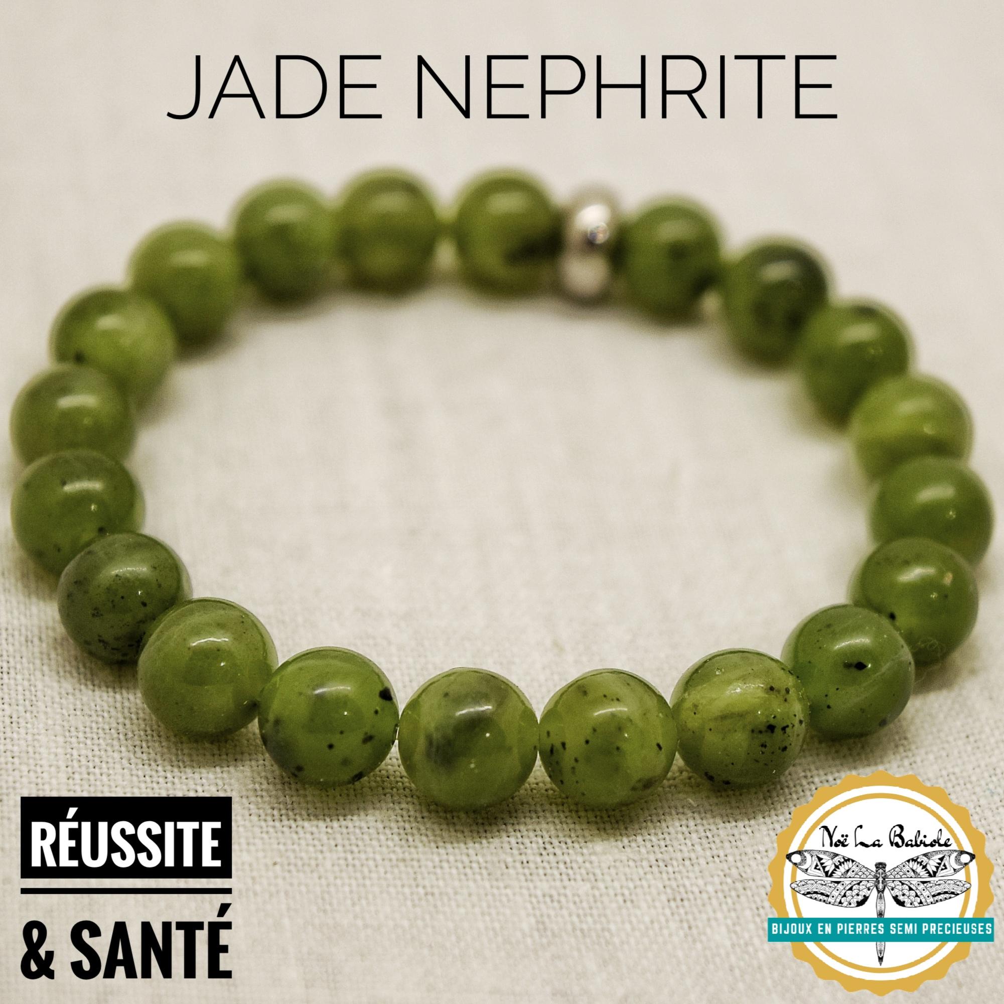 Bracelet Santé & Reussite en Jade Nephrite