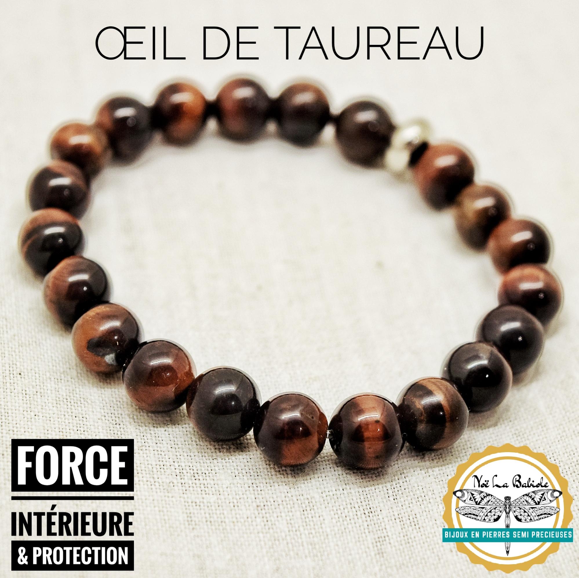 Bracelet Protection des forces intérieurs en Oeil de Taureau