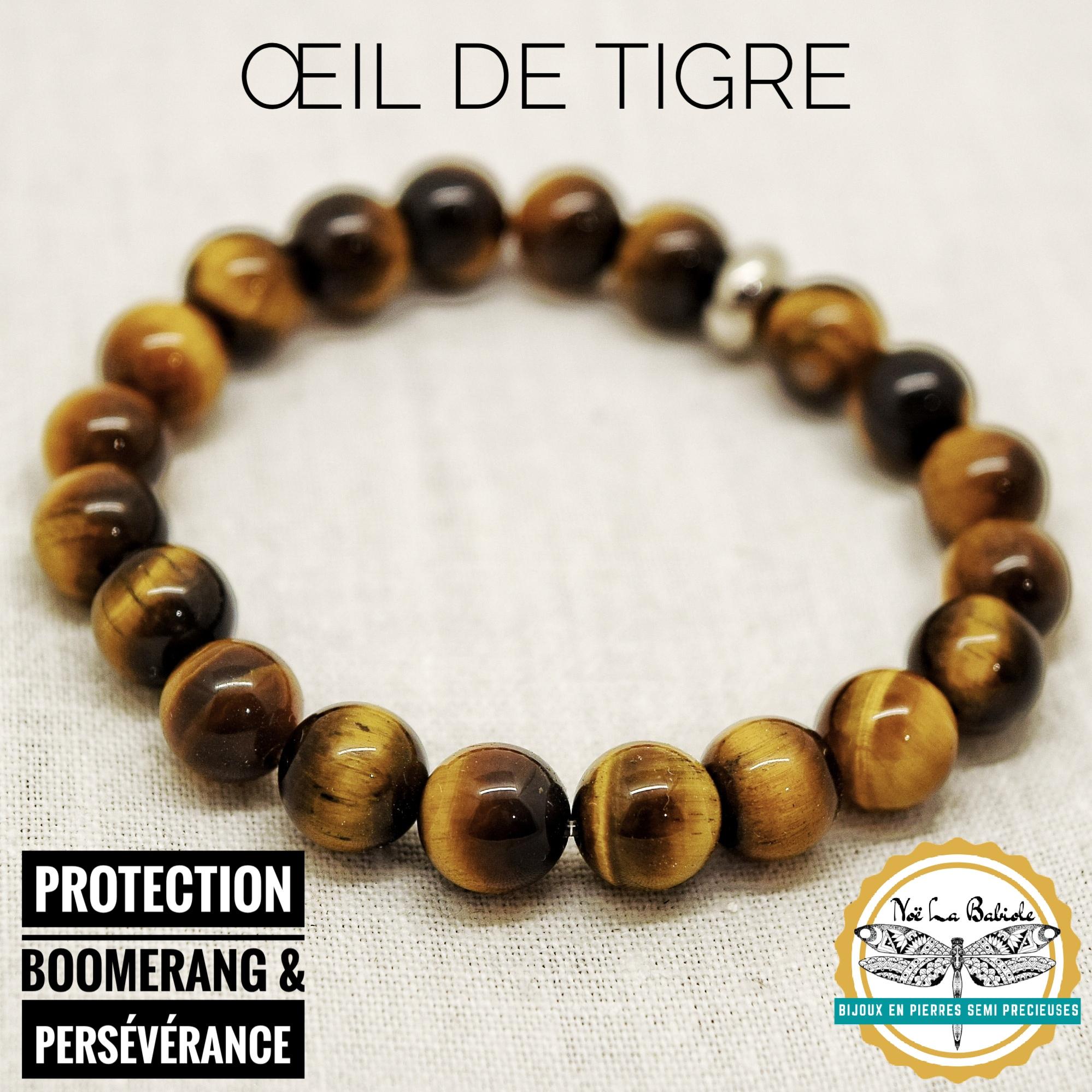 Bracelet Perséverence & Protection en Oeil de tigre