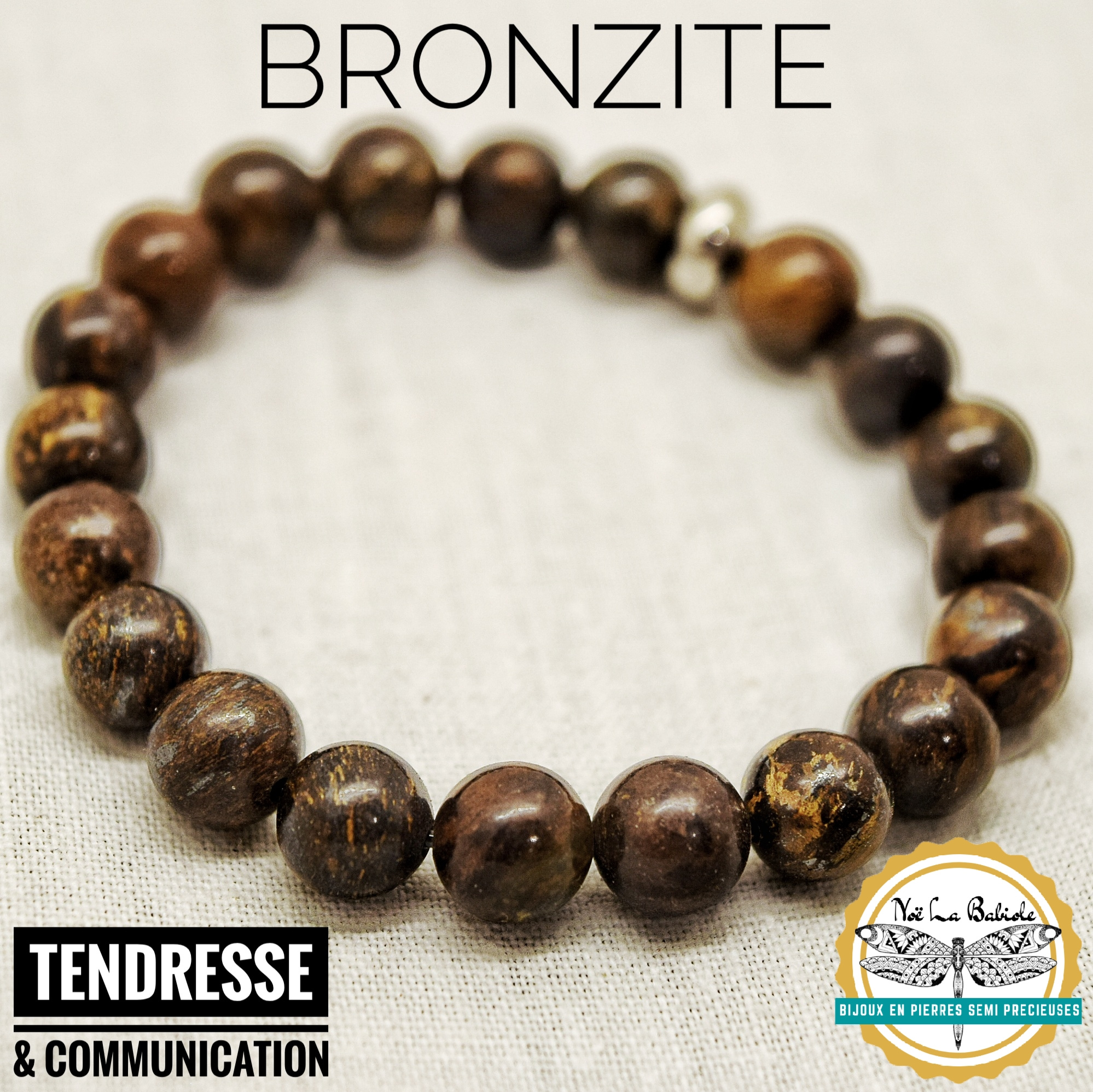 Bracelet Tendresse & Communication en Bronzite