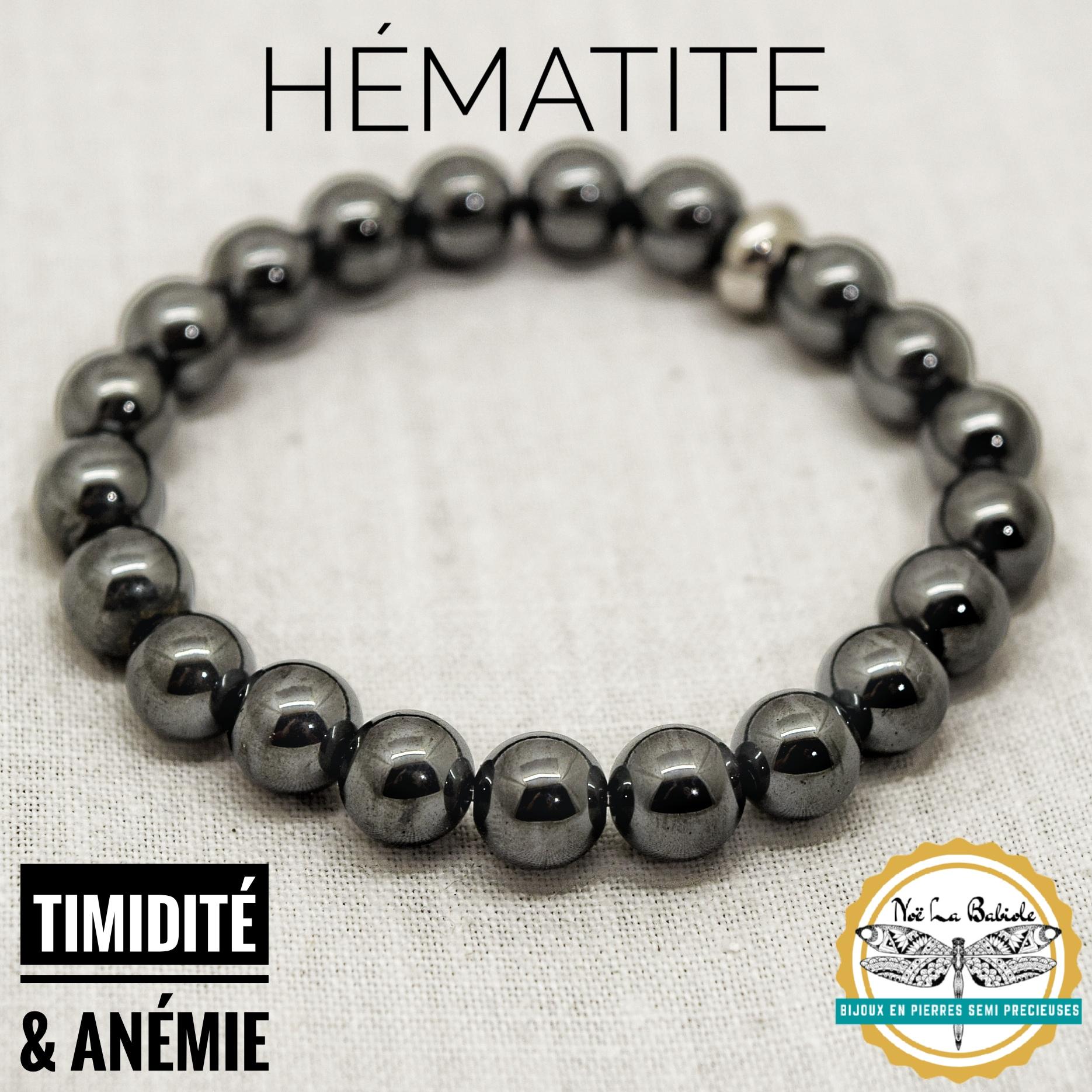 Bracelet Timidité & Troubles sanguins en Hématite