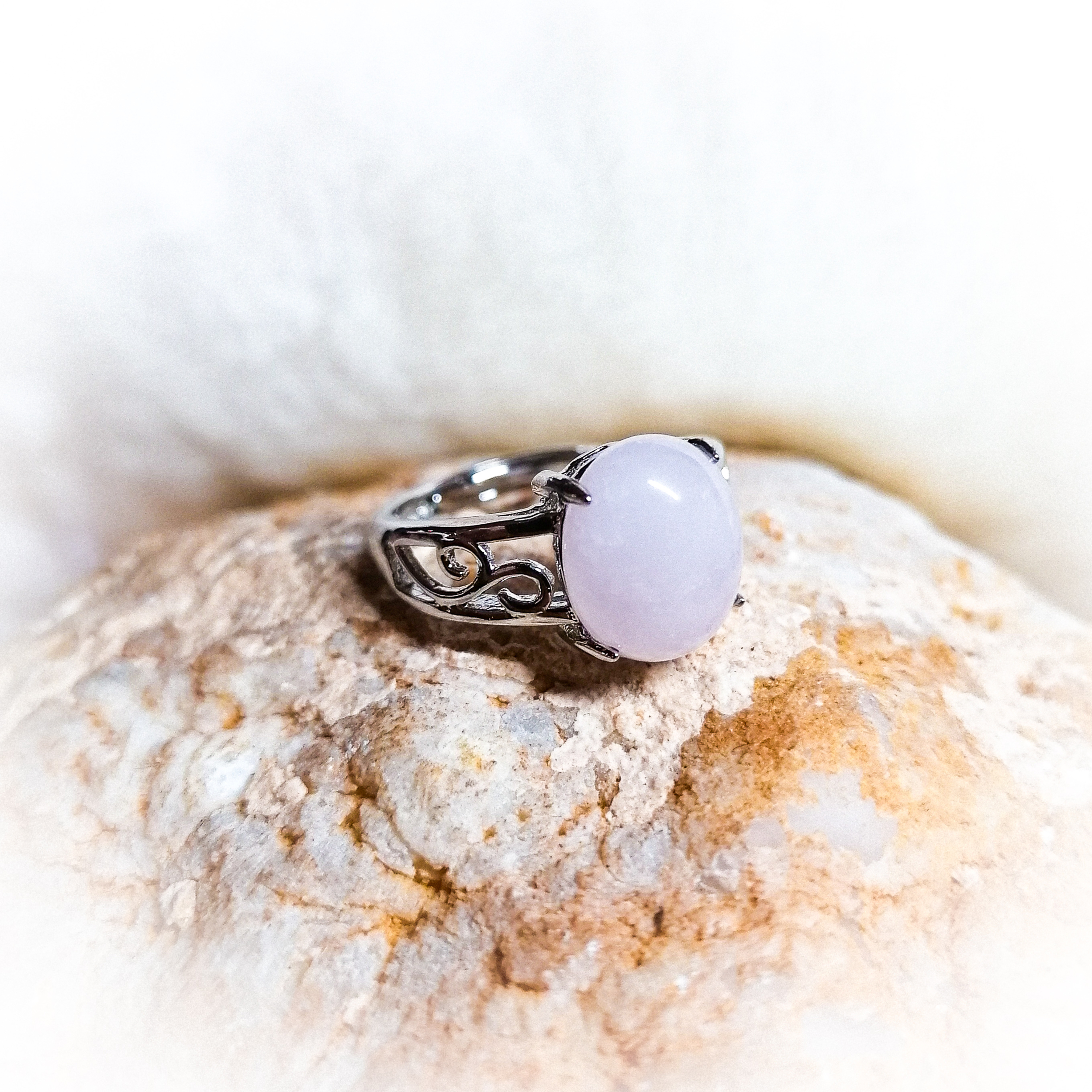 Bague Amour Inconditionnel en Quartz rose - Ajustable