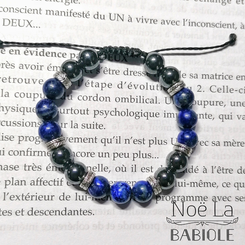 Bracelet Expression des besoins en Lapis lazuli et Hématite