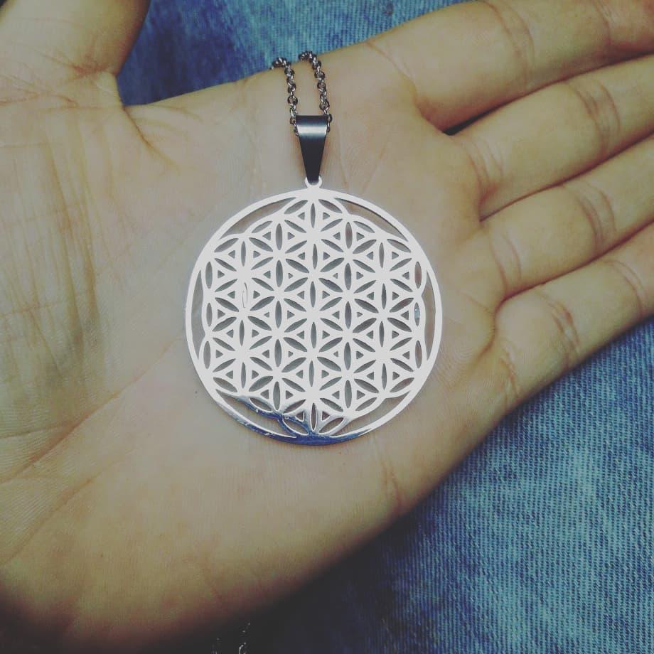 Collier Fleur de Vie Géométrie Sacrée