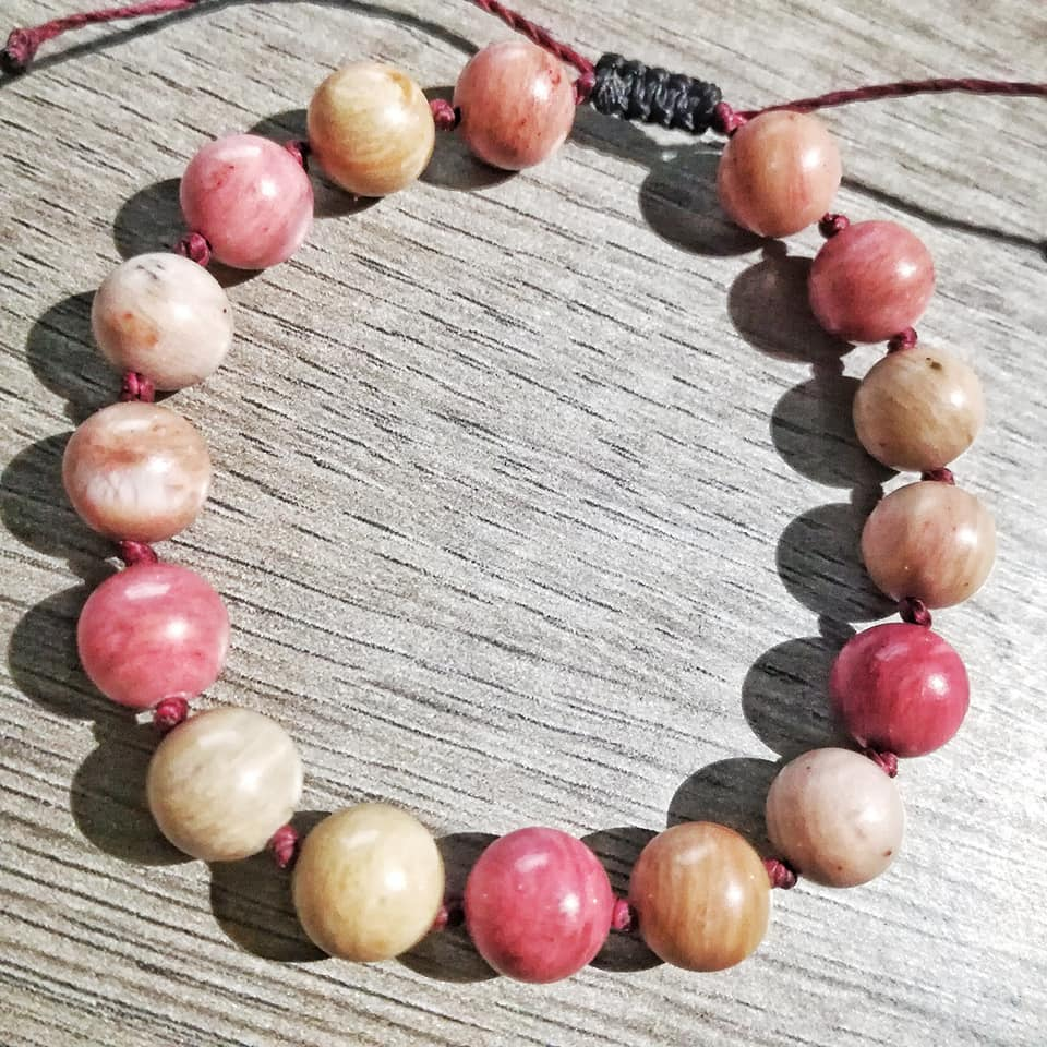 Bracelet Bonheur & Passion en Rhodonite