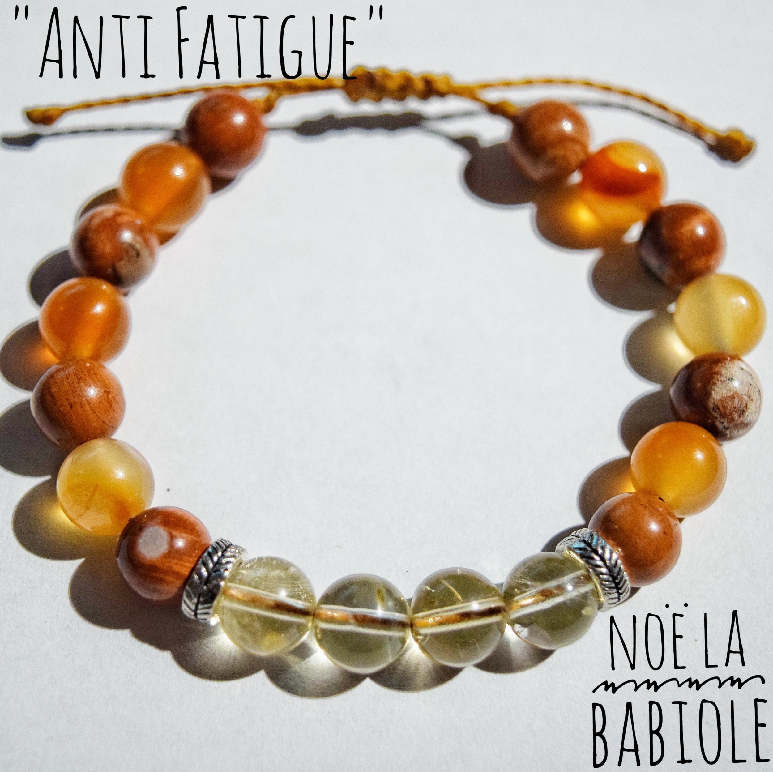 Bracelet ANTI FATIGUE en Jaspe, Citrine & Cornaline
