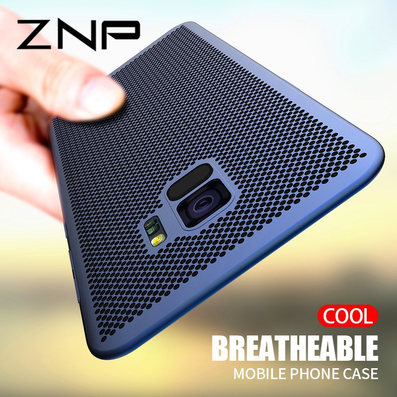 ZNP-Ultra-Mince-Grille-Dissipation-thermique-T-l-phone-tui-pour-samsung-Galaxy-S9-S8-Plus