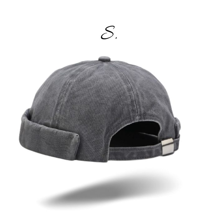 casquette bonnet miki sans visière gris clair docker