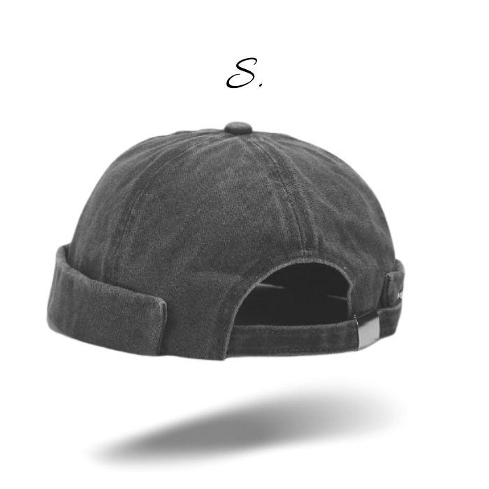 casquette sans visière gris souris noir bonnet