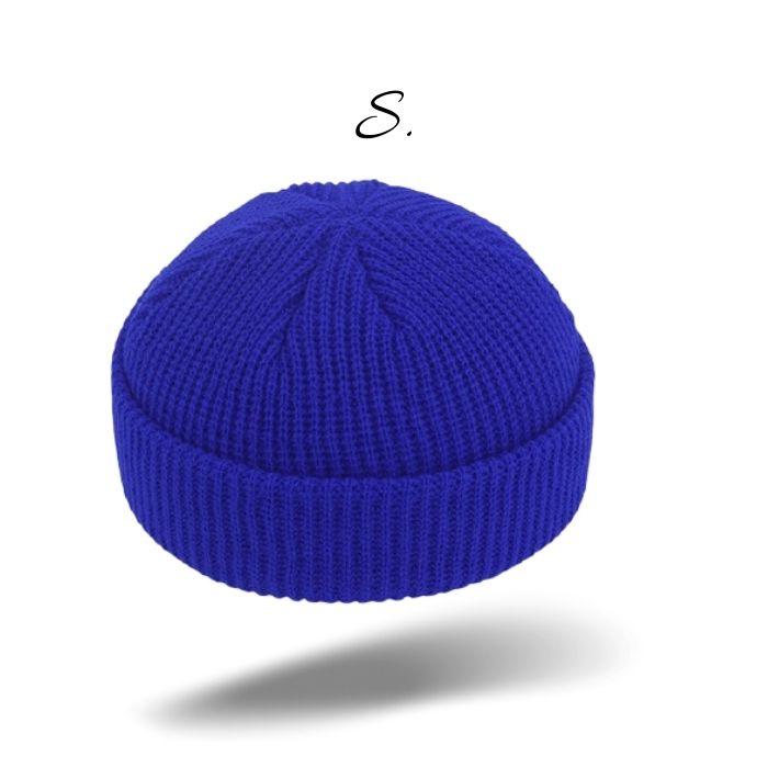 casquette sans visière gris souris noir bonnet (1)